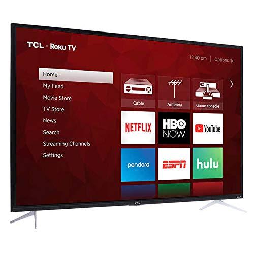 TCL 50S423 50inch 4K UHD HDR Roku Smart LED TV (Renewed)