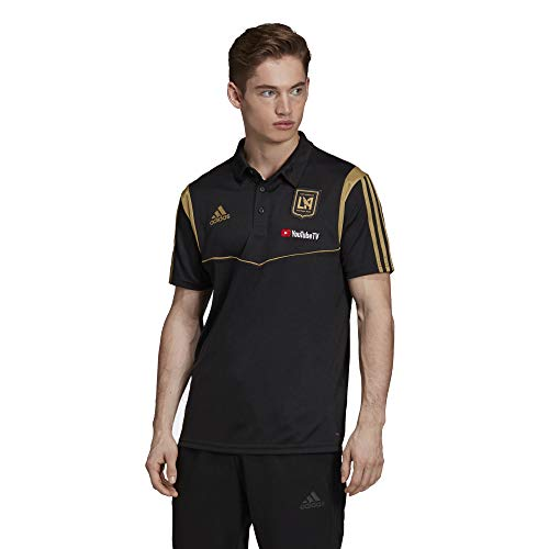 (adidas Los Angeles FC Men's Team Logo Coaches Climalite Performance Polo Shirt (Medium) )