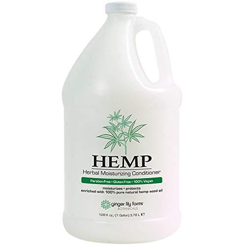 Ginger Lily Farms Botanicals HEMP Herbal Moisturizing Conditioner, Nourishing, 100% Pure, Natural Hemp Seed Oil, 128 Ounce, Orange
