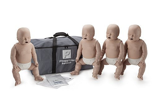 Prestan Professional Infant CPR-AED Training Manikins 4- Pack Medium Skin (without CPR Monitor) by Prestan Products