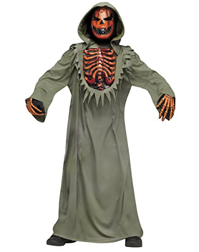 Evil Bleeding Pumpkin Halloween Costume boys size S (4-6) -