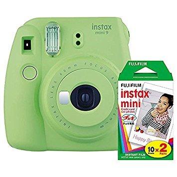 Fujifilm Instax Mini 9 (Lime Green) Instant Camera with Mini Film Twin Pack -