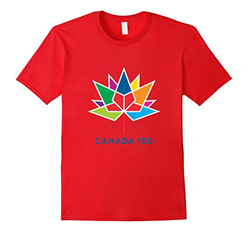 Mens Canada 150 Logo T-Shirt Official License by Heritage Canada Large (Heritage Show Shirt)