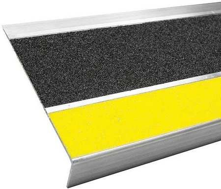 Stair Tread Cover, Black, 36in W, Aluminum by BOLD STEP