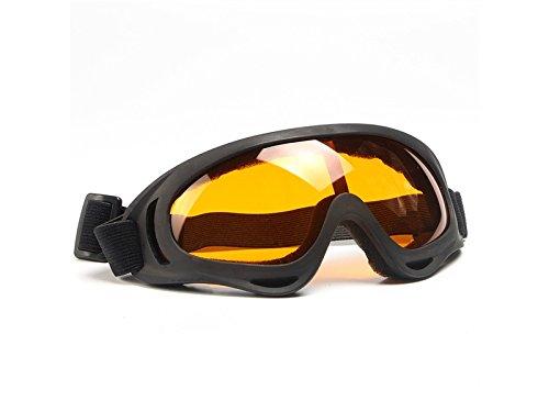 HOUHOUNNPO Praktische PanpA Mä nner Frauen Kinder Bike Goggles Motocross Wind Staubschutzbrille Verstellbaren Gü rtel (Orange)