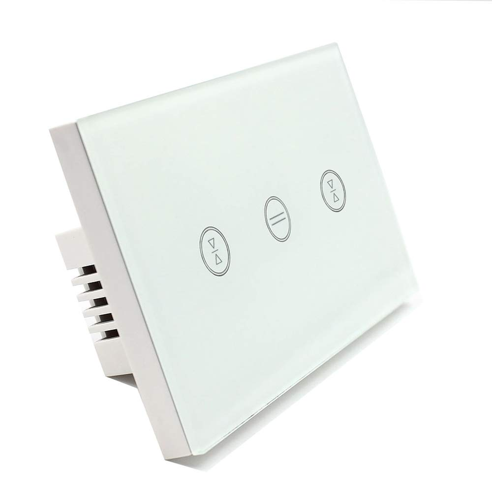 US Type Wifi Smart Curtain Motor Switch APP or Voice Control by Alexa Echo AC110 to 240V Work with Electric Roller Blinds Curtains Motor with Control Wires Home Automation IFTTT