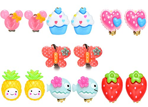Clip On Earrings Kids - Clip On Earrings Colorful Cute Pretend