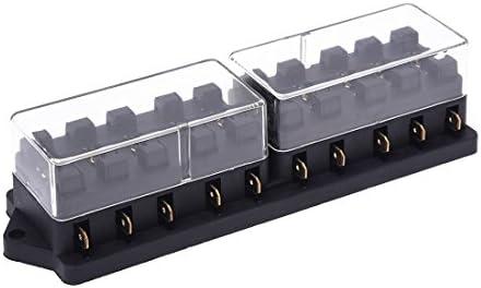 TOOGOO(R) Portafusible Caja de Fusible Plastico 10 Vias 12V para Coche Auto Negro: Amazon.es: Bricolaje y herramientas