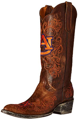 NCAA Auburn Tigers Women's 13-Inch Gameday Boots, Brass, 6 B (M) US