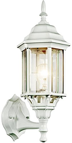 Kichler 49255WH, Chesapeake Cast Aluminum Outdoor Wall Sconce Lighting, 100 Total Watts, White from KICHLER