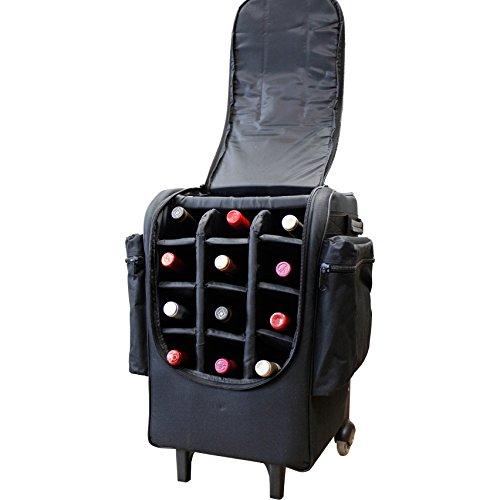 AmeriLeather Apc 12-Bottle Wheeled Bag Cooler (Black)