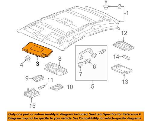 Honda Genuine 83280-SZT-A01ZA Sun Visor Assembly Left