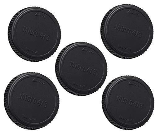 ((5 Packs) M43 Lens Rear Caps, Micro 4/3 Rear Lens Cover, MFT Rear Lens Caps for Olympus/Panasonic Micro 4/3 M43 Mirrorless Camera Lens)