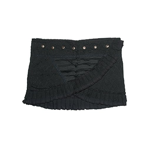 Jedzebel Asymmetrical Short Snap-Skirt with Lace and Ribbon Designs - DE200 -...