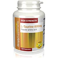 L-Taurine 600mg   Increase Muscle Mass & Strength   120 Capsules   High Strength   100% money back guarantee   Manufactured in the UK