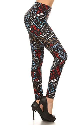 Leggings Depot Ultra Soft 3X5X Popular Best Printed Fashion Leggings Batch1 (3X-5X, Sing my (Scary Halloween Songs To Sing)