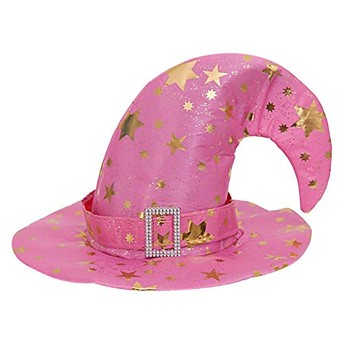 Easter Hat Gilding Witch Hat Halloween Costume Party Supplies Performance Props, Pink/Red/Orange/Blue/Rosy/Purple/Black ()