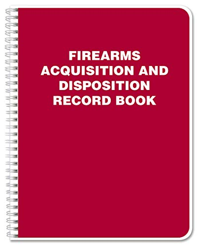 BookFactory Gun Log Book/Firearms Acquisition and Disposition Record Book - 120 Pages, Red Cover, Wire-O, 8.5