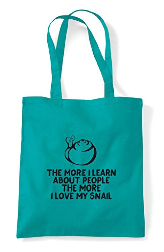 Lover Love More The Person Snail People Learn I About Tote Funny My Emerald Animal Pets Shopper Bag x1xwXqvH