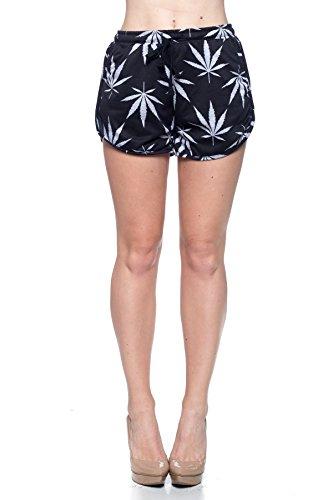 Calilogo Women's Weed Marijuana Pot Leaf Casual Jogging Pants Jacket Includes Free Gift (Medium, Black)