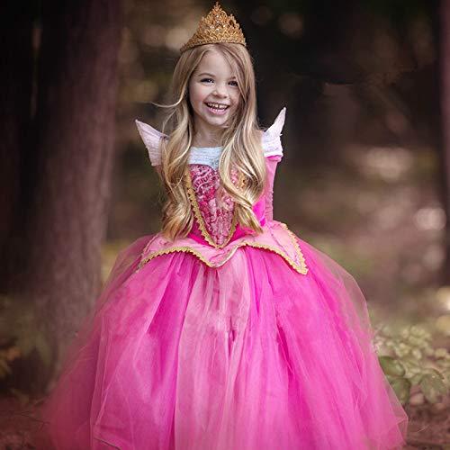 Dunnomart Sleeping Beauty Cosplay Costume Fantasy Kids Princess Aurora Dresses Girls Halloween Costume Kids Party Dress -
