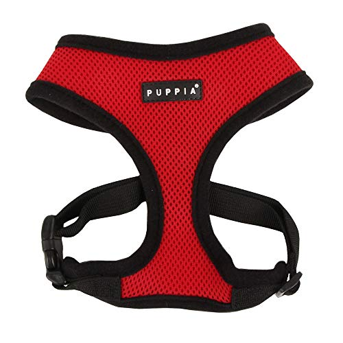 Puppia Soft Dog Harness, Red, X-Small