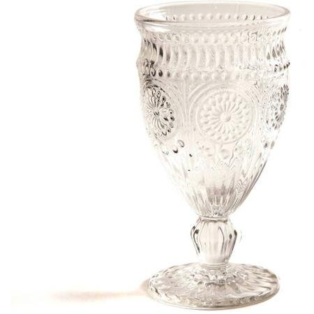 The Pioneer Woman Adeline Embossed 12-Ounce Footed Glass Goblets, Set of 4 (Clear) by The Pioneer Woman (Image #2)