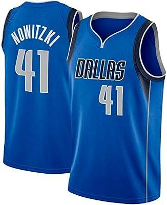 Ruimei de los Hombres Camiseta de Baloncesto Dallas Mavericks # 41 ...