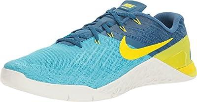 Nike Men's Metcon 3 Training Shoe (10 D(M) US, Blue/Industrial/Lime)