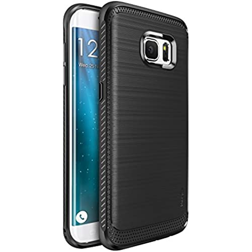 Galaxy S7 Edge Case, Ringke [Onyx] [Resilient Strength] Flexible Durability, Durable Anti-Slip, TPU Defensive Case for Samsung Galaxy S7 Edge - Black Sales