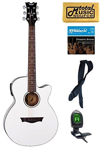 dean acoustic guitar white - 4