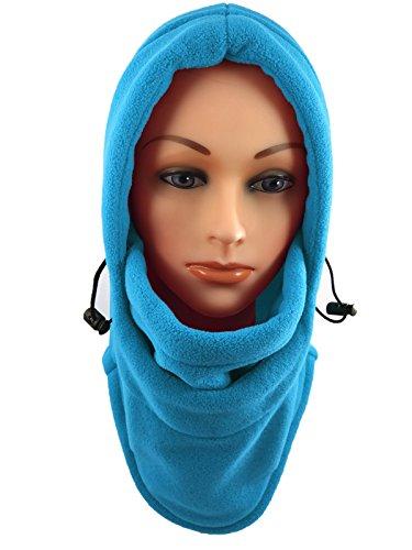 Nova Sport Wear Novasport Women's Balaclava Hooded Face Mask Fleece (Baby Blue) Snowboard Ski Hat