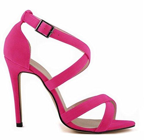 Bretelles Soirée Confortable 2016 Sandales Chaussures Haut Gala Mode De Rose Talon 42 Femme d1xXqwS