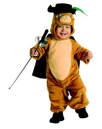 Toddler Shrek Costumes (SHREK THE THIRD PUSS 'N BOOTS - INFANT)