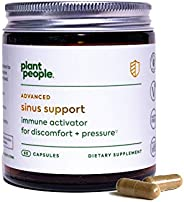 Plant People - Sinus Support | Promote Healthy Immune Response for Discomfort and Pressure in Nose and Head |