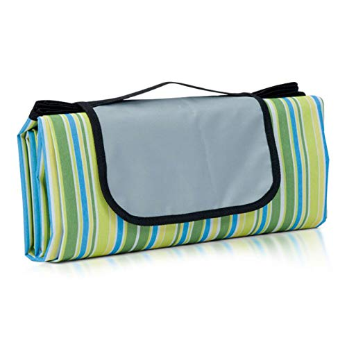 (Pruslick & Co Outdoor Waterproof Beach Picnic Blanket - Our Extra Large 150cm x 200cm Portable Mat Keeps You Sand Proof When You Sit Down   Durable, Wrinkle and Shrink-Proof Mat)