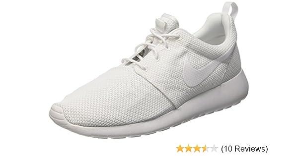 new concept d2e5a fc9d3 Amazon.com  Nike Mens Rosherun Running Shoe 10.5 White  Runn