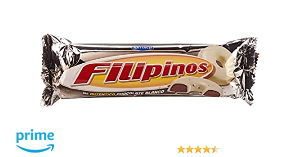 Artiach Filipinos Galleta Bañada con Chocolate Blanco - 100 g: Amazon.es: Amazon Pantry
