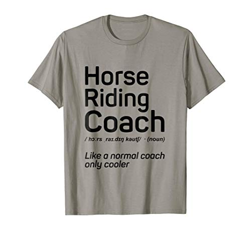 Horse Trainer Gifts | Horse Riding Coach Definition Shirt