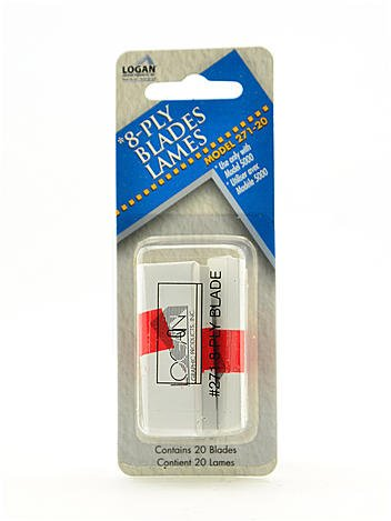Logan Graphic Products 8-Ply Mat Cutter and Blades replacement blade,Silver