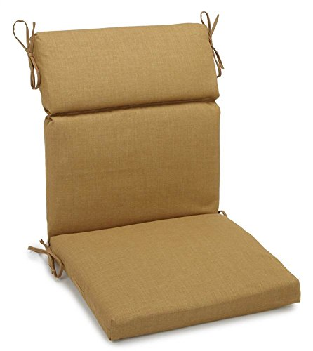 Blazing Needle Designs 22 in. Cushion for Outdoor High Back Chair (Wheat)