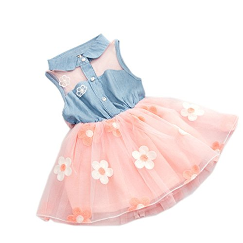 - Baby Girl Dress 1 - 4 Years Flower Princess Wedding Party Dresses (3 Years, Pink)