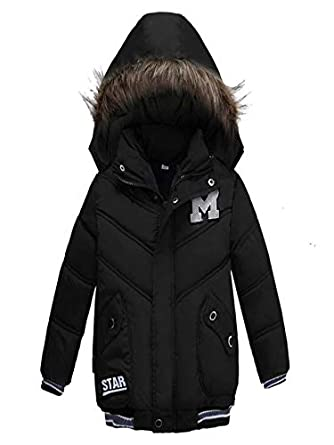 96a0ea409121e Amazon.com: VEKDONE Baby Girls Boys Kids Down Jacket Coat Down Feather Winter  Warm Children Clothes: Clothing