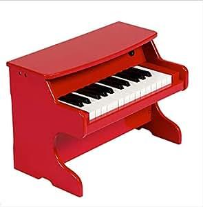 Piano para niños Teclado de Madera para Principiantes 1-3-6 años de Edad Niños y niñas Juguetes para bebés Regalos de cumpleaños (Color : Red) : Amazon.es: ...