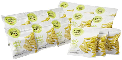 Wickedly Prime Pea Crisps, Snack Pack, 0.75 Ounce (Pack of 15) ()