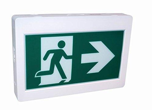 Enseigne de sortie d'urgence DEL Running man avec 3 pictogrammes Futur Vert