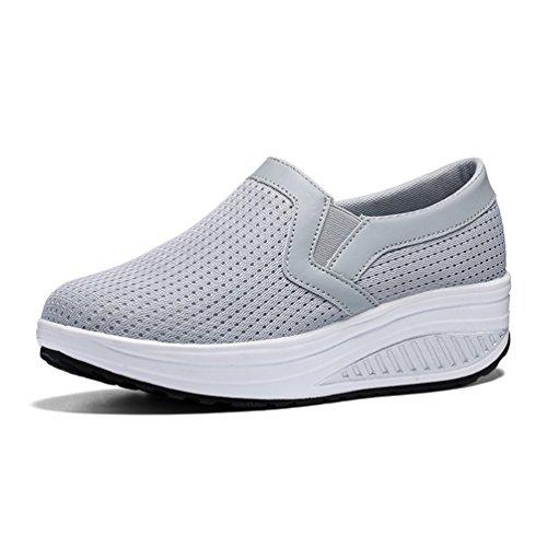 43 Marche Confortable 35 Athlétique Baskets Respirant de Sneakers Running Antidérapantes Filets JRenok Femme Chaussures Compensées PnO6qwOYf