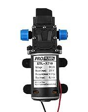 EBTOOLS Bomba de agua de diafragma, 12V DC 100W 8L / Min 160Psi Bomba de agua autocebante de diafragma de alta presión para lavado