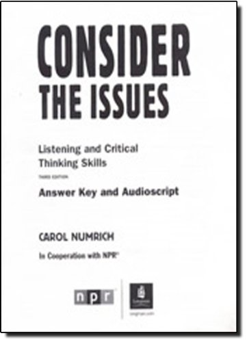 Consider the Issues: Answer Key