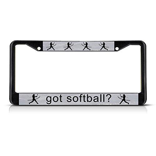 Fastasticdeals Got Softball? Black License Plate Frame Tag Holder